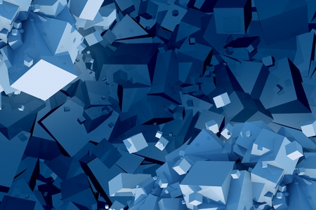 chaotic: Chaotic Cubes Abstract Background Illustration.