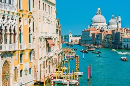 italian architecture: Grand Canal in the Venice, Italy. Famous Italian Architecture.
