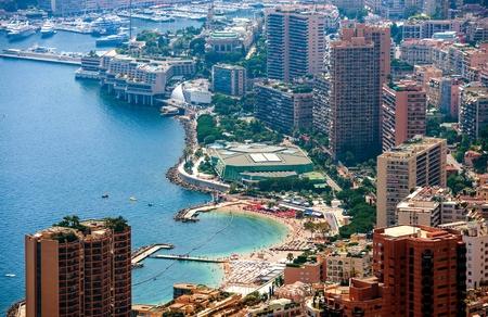 carlo: Summer in Monte Carlo Aerial View. Monte Carlo, Monaco, Europe.