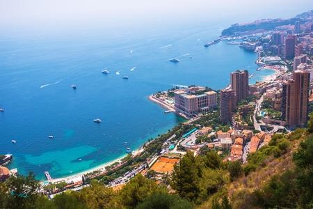 monte: Aerial View of Monte Carlo, Monaco, Europe. Monaco Cityscape.