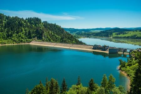 Polands 100-MW Niedzica Hydroelectric Facility. Czorsztynskie Lake. Lesser Poland, Europe.