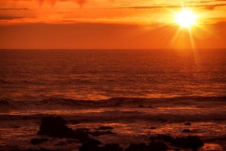 nature scenery: Scenic Pacific Ocean Sunset in California, United States.