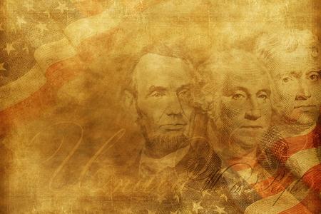 mount jefferson: United States of America Presidents Background Illustration. Vintage Style American Background. Independence Backdrop.