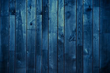 Dark Blue Wood Achtergrond. Blauw geschilderde houten achtergrond.