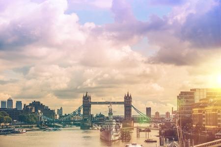 London River Thames Panorama. London, England, United Kingdom.
