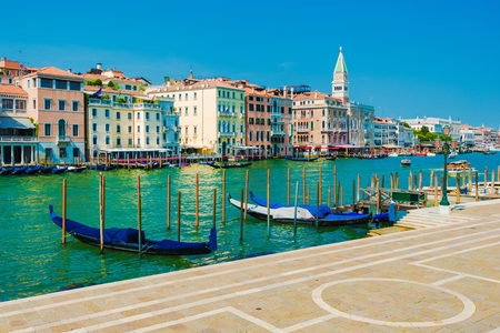 italian architecture: World Famous Grand Canal in the Venice, Italy. Italian Architecture. Europe.