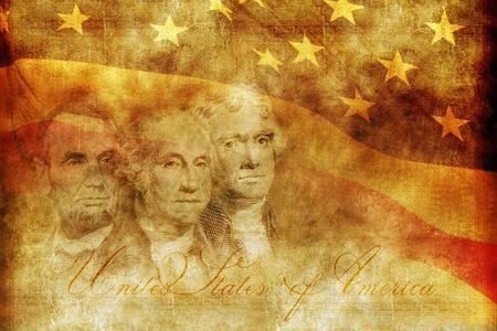 george washington: Americana ilustración de fondo Presidencia Concept. Tema sepia envejecida. Estados Unidos de América Presidentes Telón de fondo.