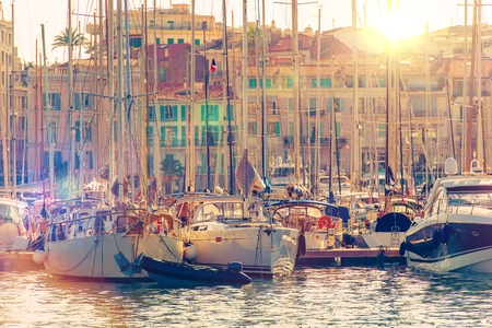 riviera: Cannes Marina French Riviera. Port De Cannes Marina France. Yachts and Boats.