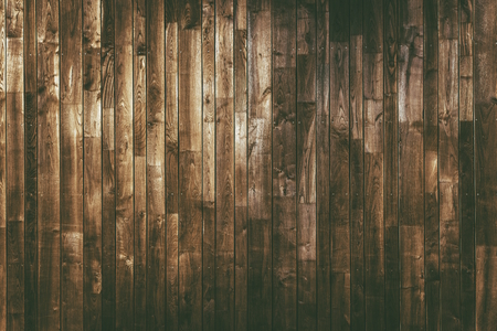 Aged Wood Planks Background. Dark Brown Wooden Texture.