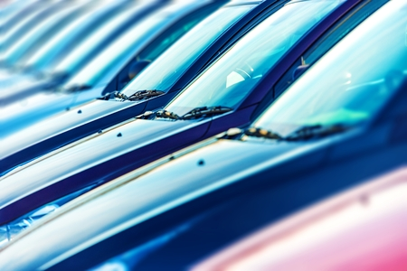 stock car: Cars Ready For Sale. Dealership Brand New Cars Stock. Car Marketplace. Stock Photo