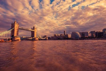 thames: London River Thames at Sunset. London, United Kingdom.