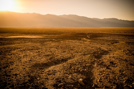 extreme heat: Death Valley Sunset Scenery. California, United States of America. Stock Photo