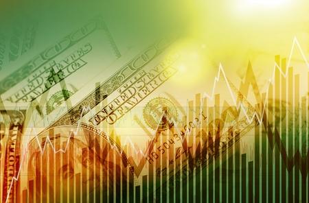 米ドル取引概念。米ドル通貨の取引市場概念。