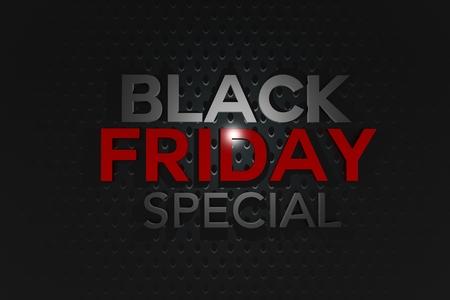 Black Friday Special 3D Banner Illustration. Black Friday Sale Concept.