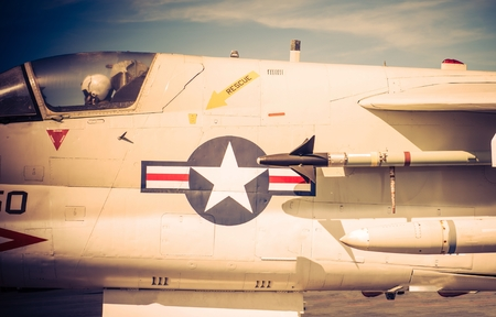 fighter pilot: American Jet Fighter with Pilot Closeup Photo. American Air Forces. Military Technology.