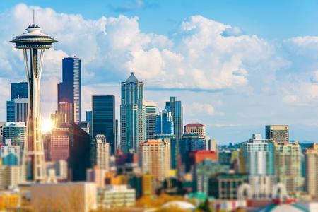 Seattle Cityscape. Seattle, Washington Downtown. United States.