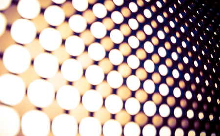 brightness: Led Lights Panel Backdrop. Blurred Leds Abstract Background. Stock Photo