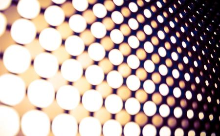 leds: Led Lights Panel Backdrop. Blurred Leds Abstract Background. Stock Photo