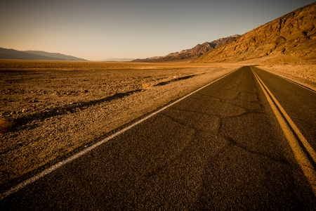 california state: Desert Road in Southern California State. United States. Stock Photo