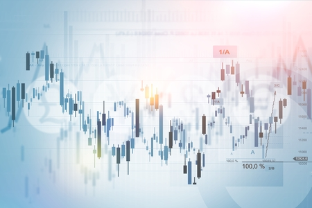 Forex Trading Index concept achtergrond afbeelding. Financiële Achtergrond.