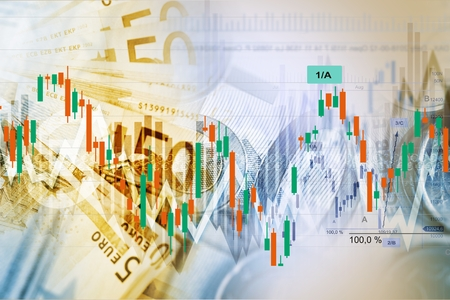 american dollar: Forex Traders Background. Currency Exchange and Trading Business Concept Illustration.