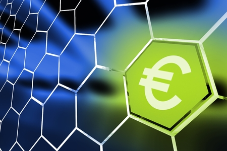 nasdaq: Euro Money Octagon Concept Illustration. Euro Currency.
