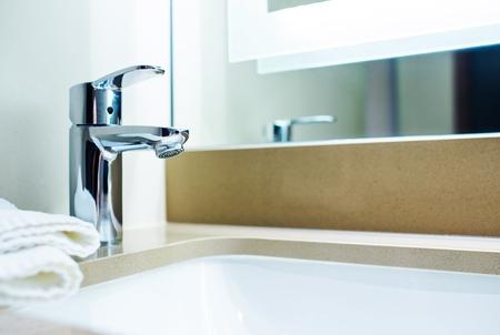 modern bathroom: Modern Bathroom Sink Design. Bathroom Interior.