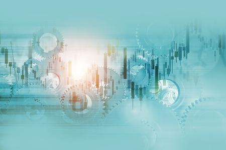Economy Mechanisms Abstract Business Background Illustration. Stock Photo