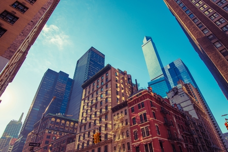 time square: New York City Time Square Area. New York Manhattan Architecture.