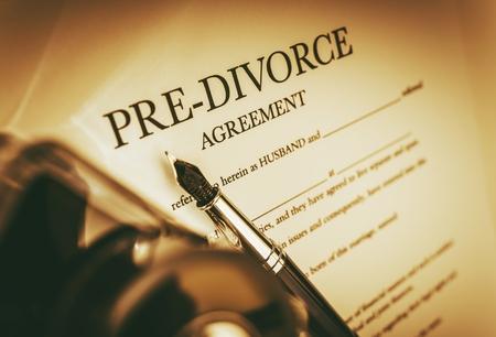 divorce: Acuerdo de pre-divorcio. Legal antes del divorcio Foto de archivo