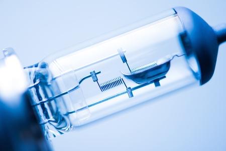 headlight: Vehicle Headlight Bulb Closeup Photo.