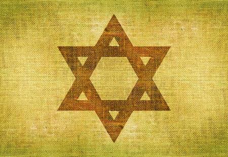 estrella de david: Estrella de David en la lona. Símbolo judío del fondo Ilustración. Foto de archivo