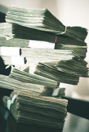 banknote: Large Amount of Cash Money. Banknotes Pile.