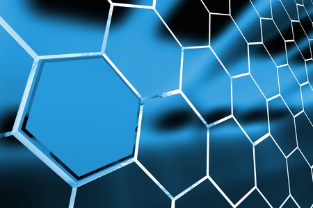 Abstract Metallic Blue Clusters Background 3D Render Illustration.