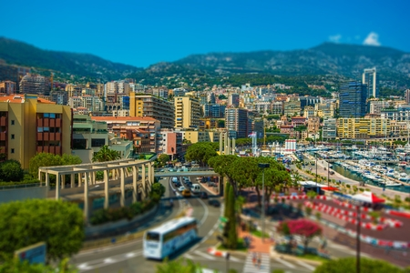 monte carlo: Monte Carlo Cityscape. Port Hercule and the City of Monte Carlo, Monaco. Stock Photo