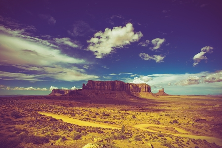 south east: Arizona South East. Raw Monuments Valley Summer Scenery. Stock Photo