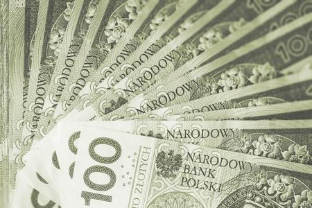 polish: Polish Zloty Cash Background Stock Photo