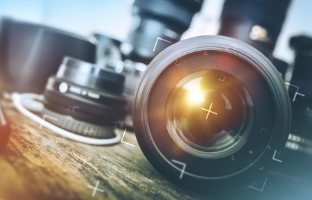Professional Photography Equipment. Banque d'images