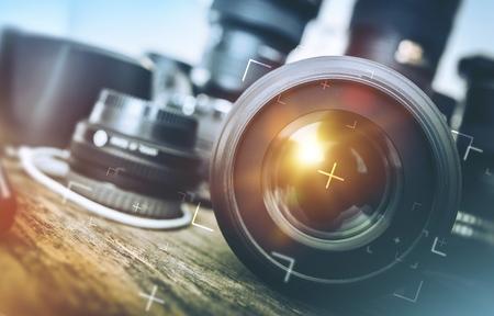 Professionelle Fotoausrüstung. Lizenzfreie Bilder