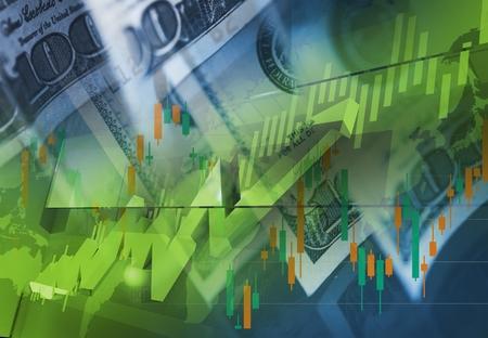 通貨お金取引概念。アメリカ ドルで取引します。外国為替のテーマです。