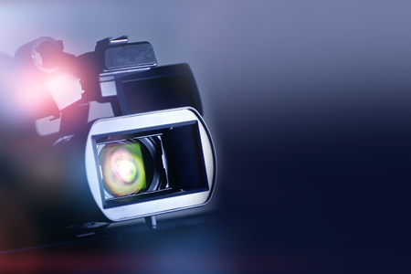 motion picture: Video Motion Picture Background with Modern Digital Motion Picture Video Camera