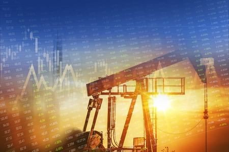 원유 및 에너지 회사 주식 투자 개념 그래픽입니다. 스톡 콘텐츠