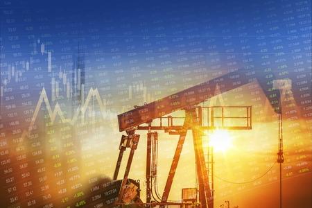 Ruwe Olie en Energie Bedrijven Stock Investment Concept Grafische.