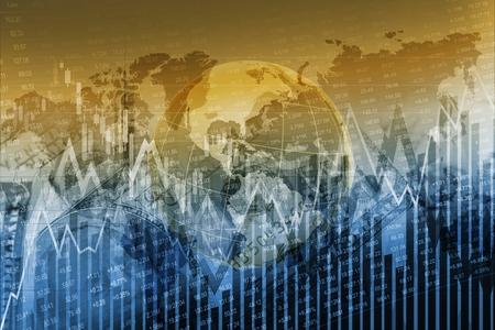 financials: Global Stock Exchange Concept Graphic Background. Global Financials