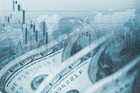 Américain Dollar Forex change. Thème financier.