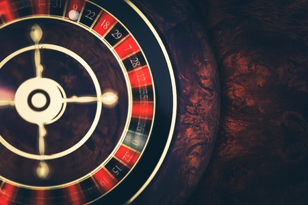 Rotating Roulette at Play. Playing Roulette in Casino Conceptual 3D Render Illustration. Las Vegas Gambling Concept.