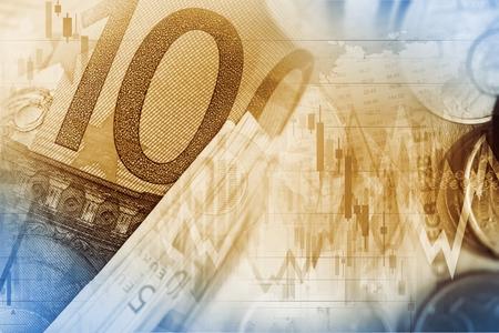 nasdaq: Currency Exchange Illustration. Euro Money Trading. Stock Photo
