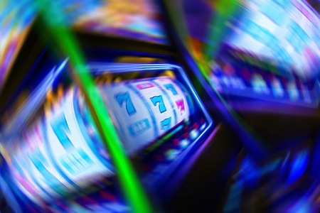 Casino Gambling Obsession Conceptual Illustration. Stock Photo