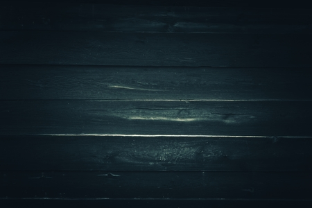 grading: Old Rusty Wooden Background in Bluish Color Grading. Old Wooden Dark Blue Background.