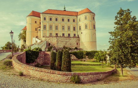 Famous Mikulov Castle in Czechia Moravia. European Castle.